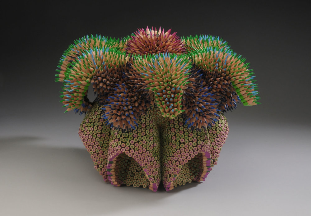 Kinesthetic Sculptures Made Out Of Colored Pencils By Jennifer Maestre 9