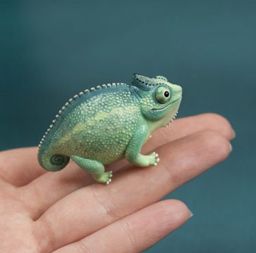 Lovely mini animal polymer clay sculptures by Raminta