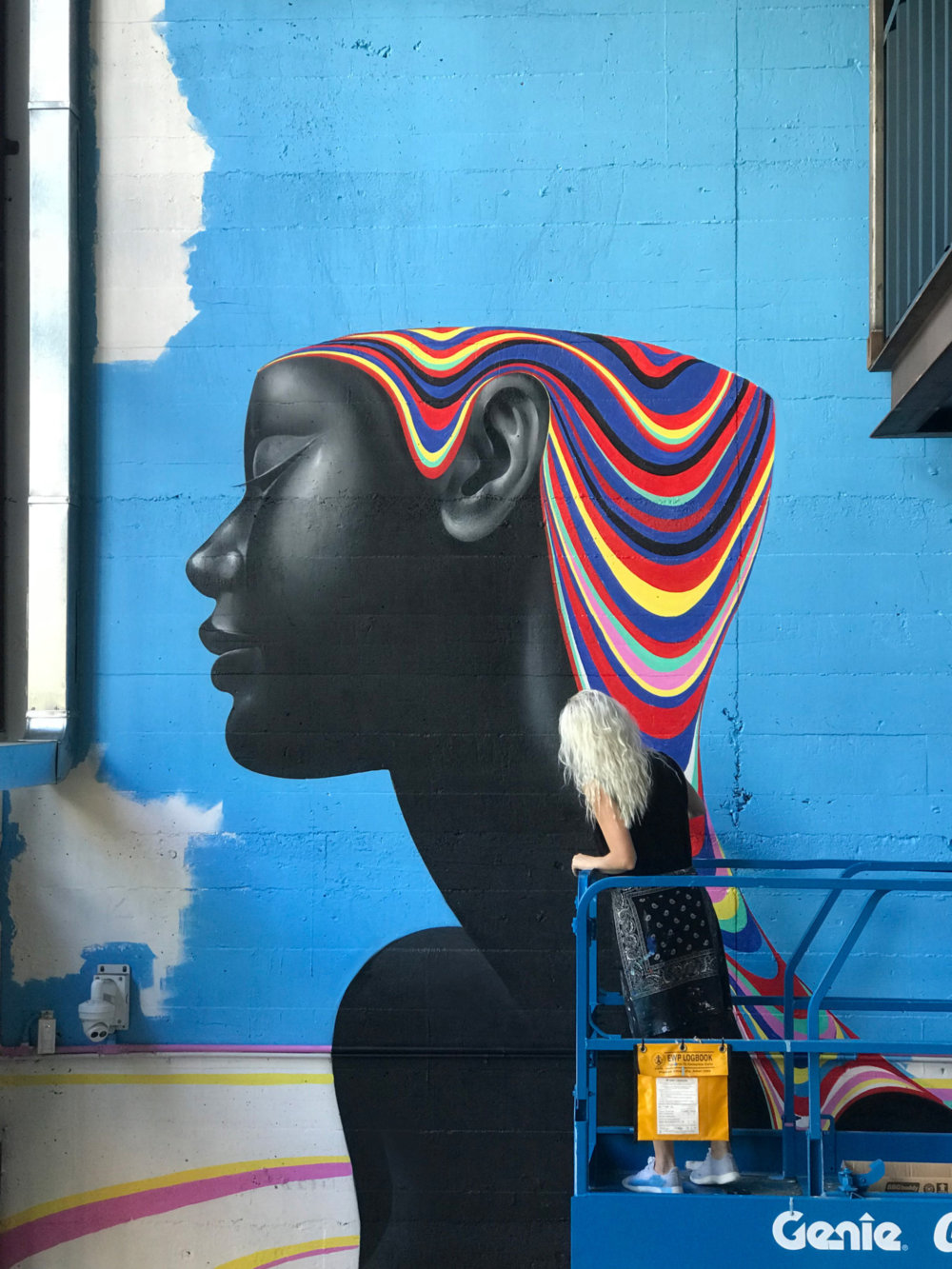 Murals Of Monochromatic Figures Pouring Colorful Fluids By Gina Kiel 10