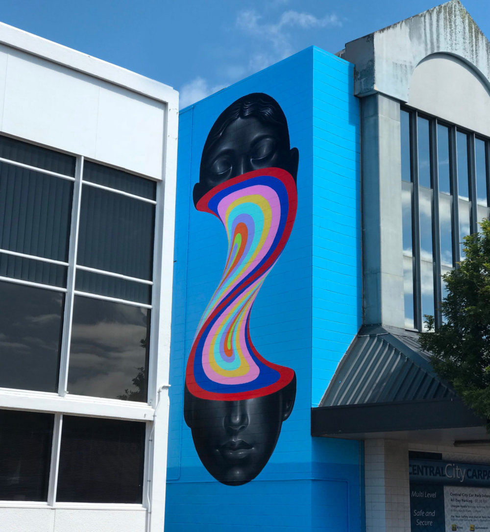 Murals Of Monochromatic Figures Pouring Colorful Fluids By Gina Kiel 9