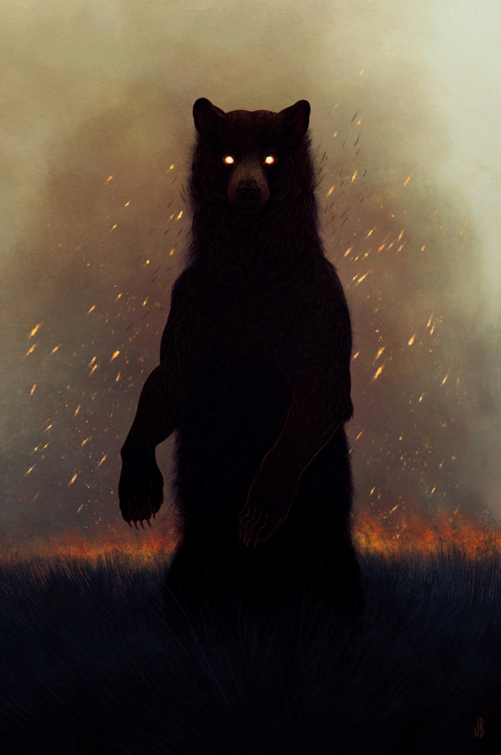 Mysterious And Shadowy Animal Illustrations By Jenna Barton 4