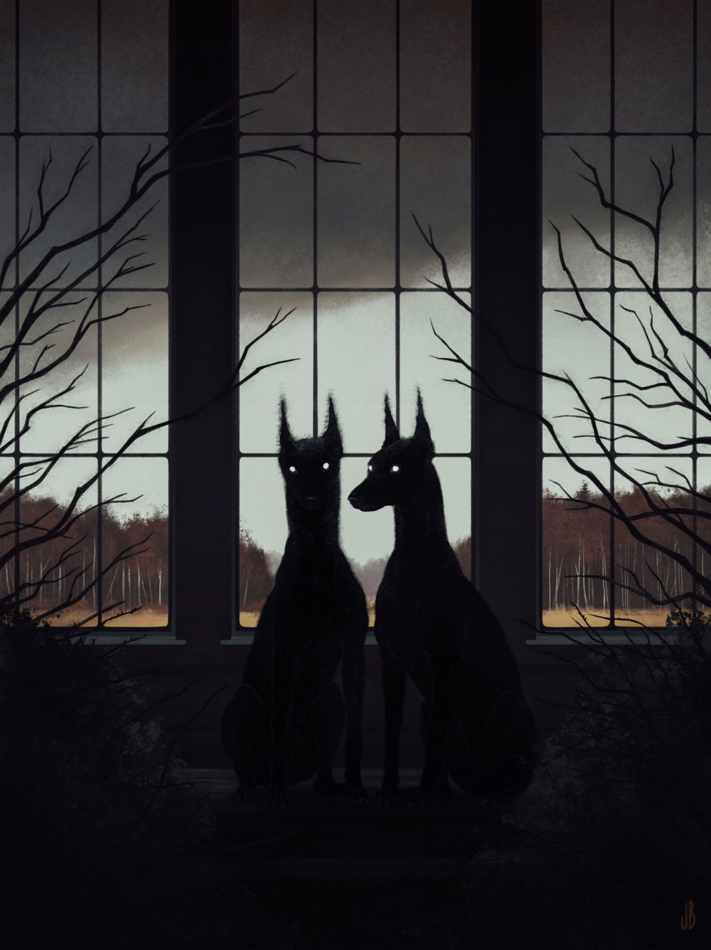 Mysterious And Shadowy Animal Illustrations By Jenna Barton 5