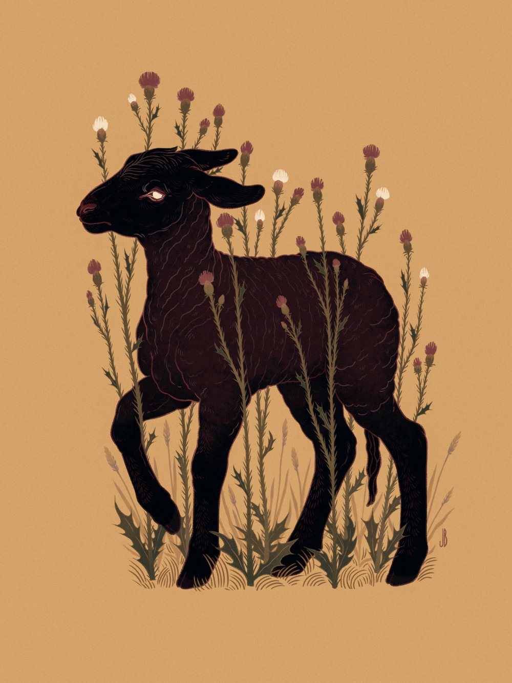 Mysterious And Shadowy Animal Illustrations By Jenna Barton 6