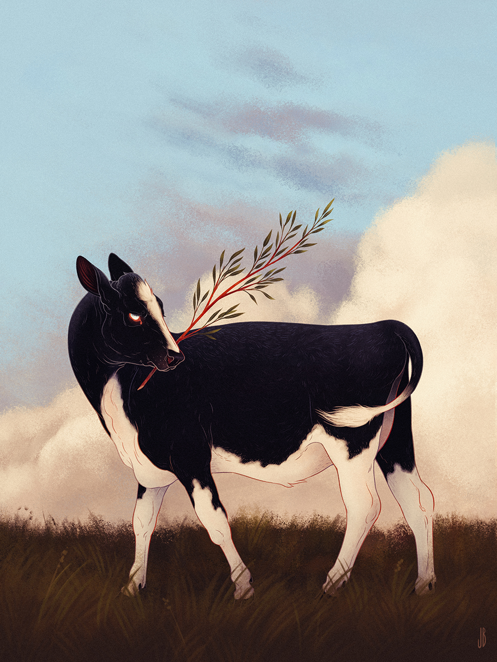 Mysterious And Shadowy Animal Illustrations By Jenna Barton 9