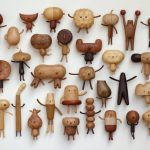 Peculiar creatures: amusing cartoon-like wood toys and vases by Yen Jui-Lin