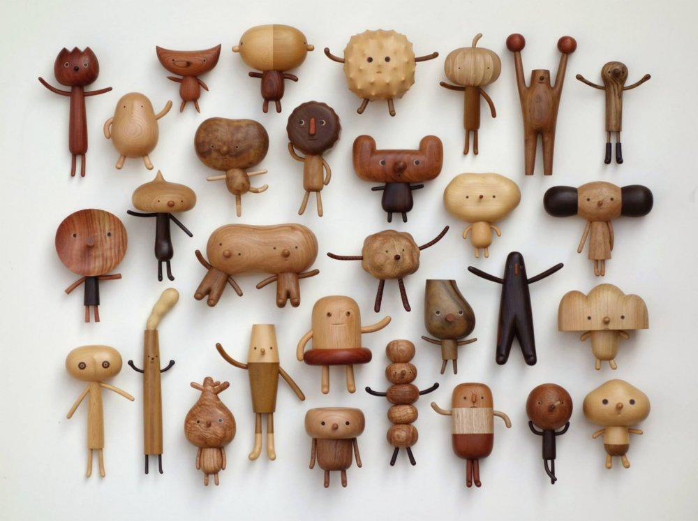 Peculiar Creatures Amusing Cartoon Like Wood Toys And Vases By Yen Jui Lin 1