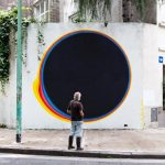 Psychedelic circular murals exploring the imperfection of organic shapes by Jan Kaláb