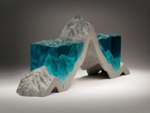Sea and waterbody glass sculptures by Ben Young