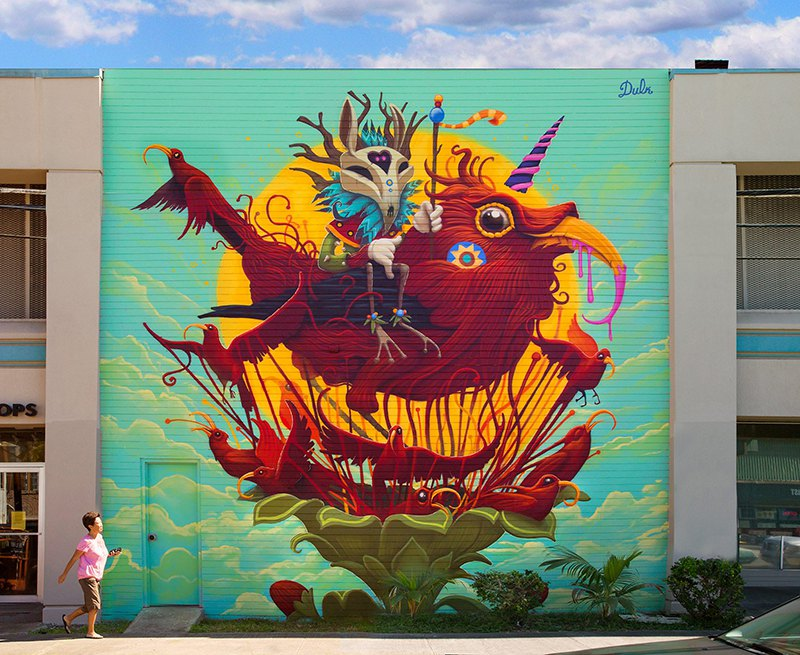 Surrealist Animal Murals And Illustrations In Vivid Colors By Dulk 1