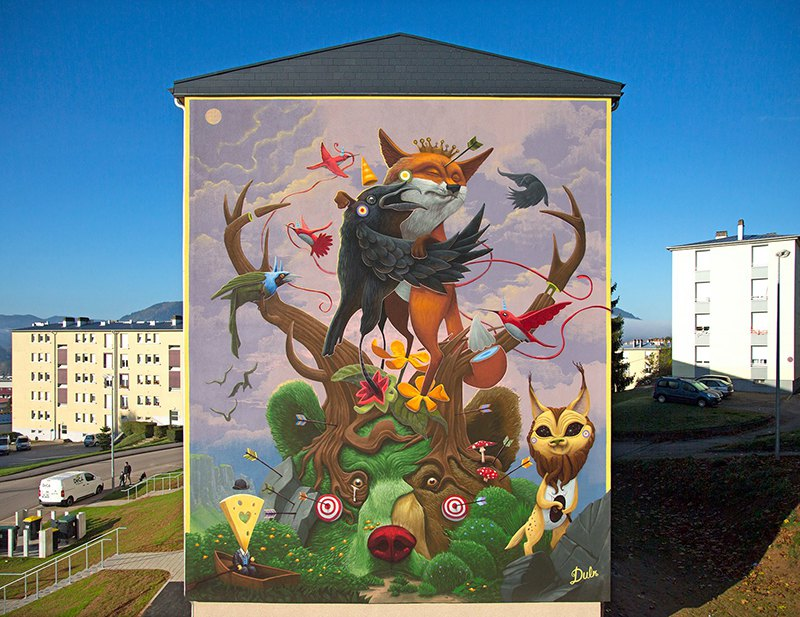 Surrealist Animal Murals And Illustrations In Vivid Colors By Dulk 2