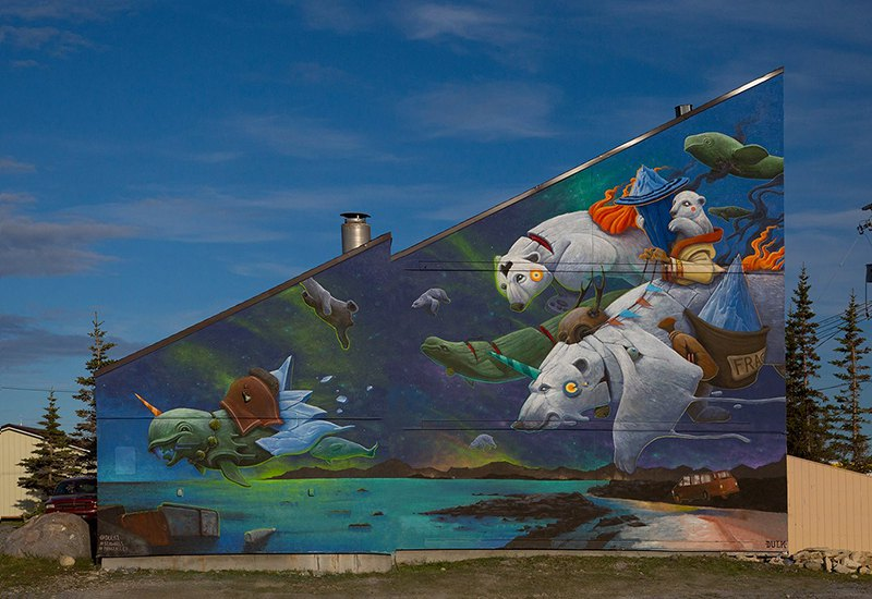 Surrealist Animal Murals And Illustrations In Vivid Colors By Dulk 3
