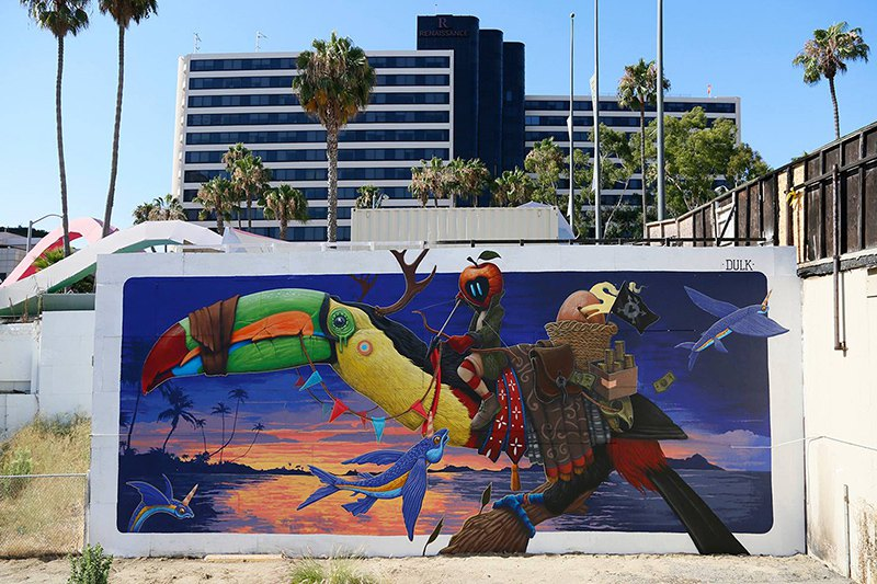 Surrealist Animal Murals And Illustrations In Vivid Colors By Dulk 4
