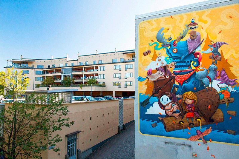 Surrealist Animal Murals And Illustrations In Vivid Colors By Dulk 5