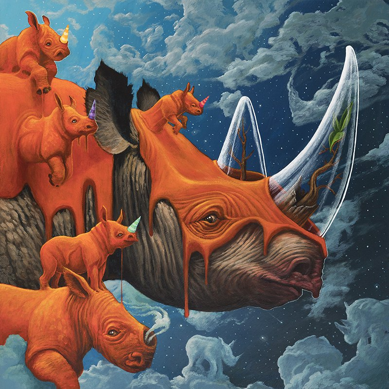 Surrealist Animal Murals And Illustrations In Vivid Colors By Dulk 6