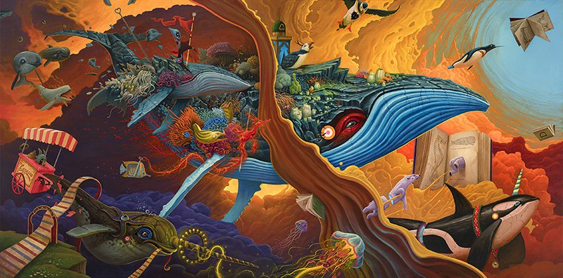 Surrealist Animal Murals And Illustrations In Vivid Colors By Dulk 8