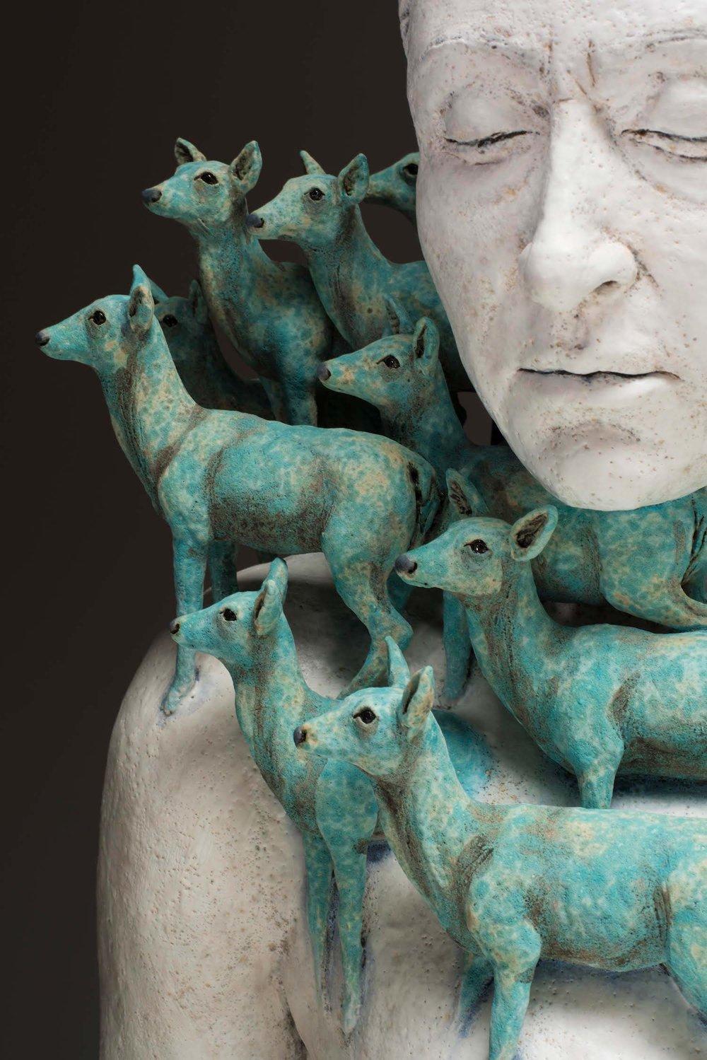 Surrealist Figure Ceramic Sculptures By Adrian Arleo 2