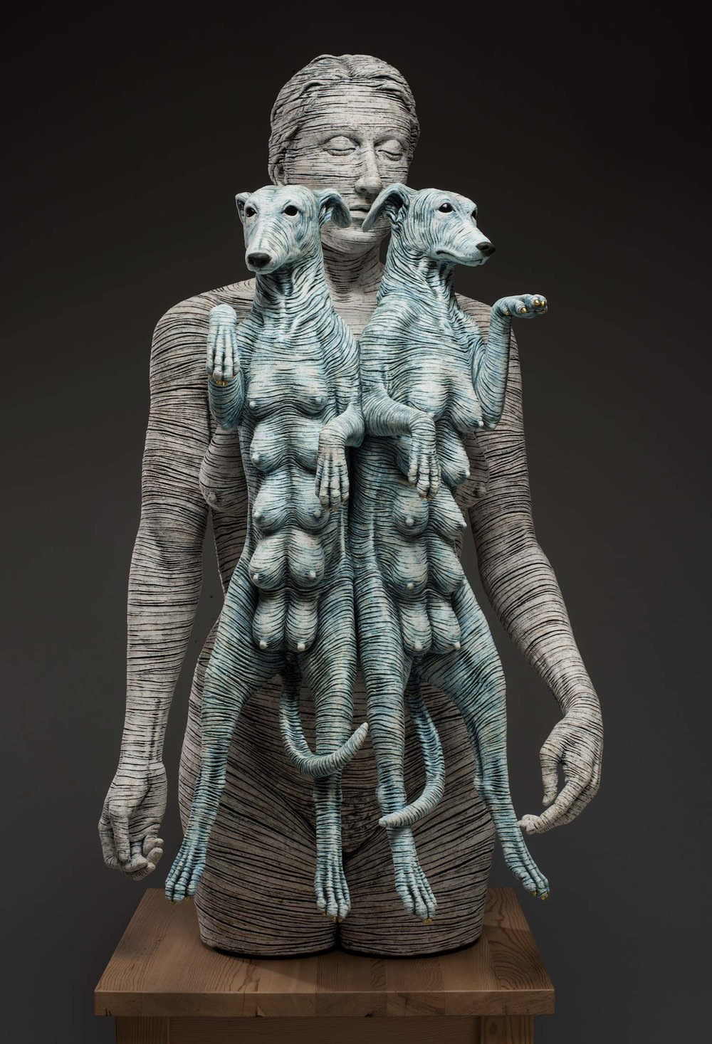 Surrealist Figure Ceramic Sculptures By Adrian Arleo 9