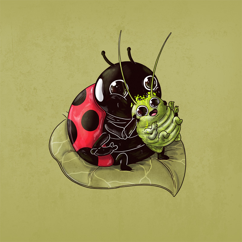 Adorable Circle Of Life Lovely And Disturbing Wild Animal Illustrations By Alex Solis 10
