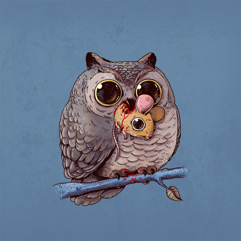Adorable Circle Of Life Lovely And Disturbing Wild Animal Illustrations By Alex Solis 3