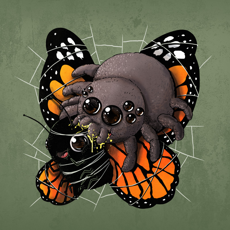 Adorable Circle Of Life Lovely And Disturbing Wild Animal Illustrations By Alex Solis 6