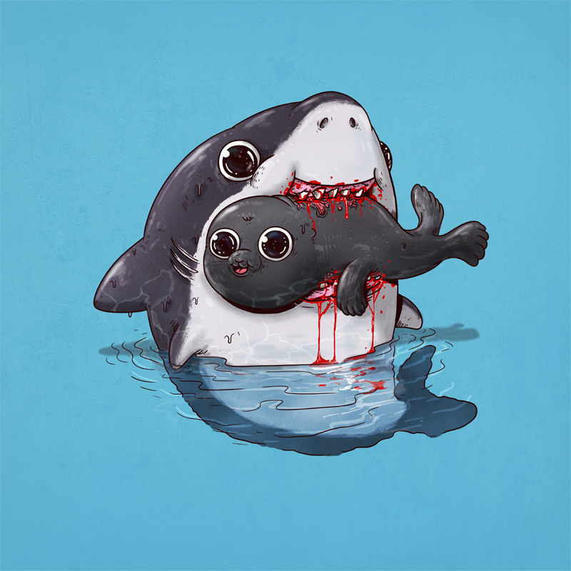 Adorable Circle Of Life Lovely And Disturbing Wild Animal Illustrations By Alex Solis 8