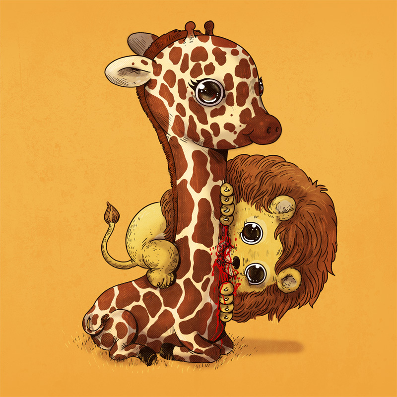 Adorable Circle Of Life Lovely And Disturbing Wild Animal Illustrations By Alex Solis 9