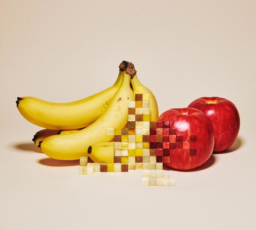 Amazing Pixelated Food Sculptures By Yuni Yoshida 1