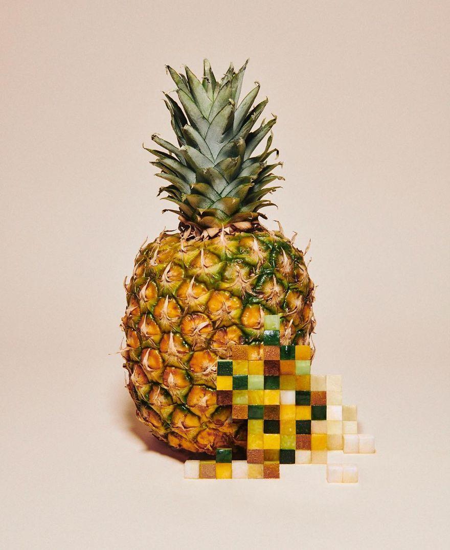 Amazing Pixelated Food Sculptures By Yuni Yoshida 2