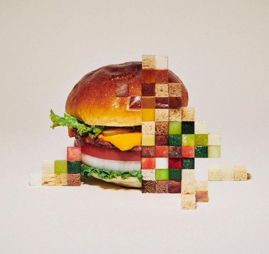 Amazing Pixelated Food Sculptures By Yuni Yoshida 4