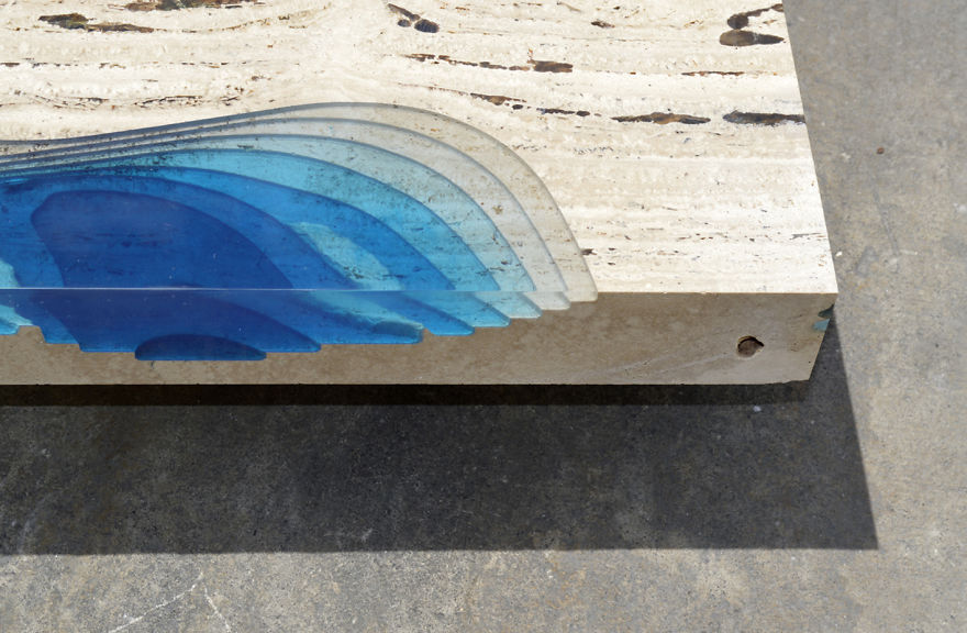 Astonishing Ocean Themed Tables By Alexandre Chapelin 2