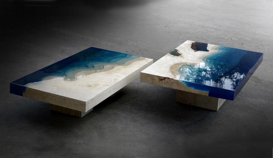 Astonishing Ocean Themed Tables By Alexandre Chapelin 4