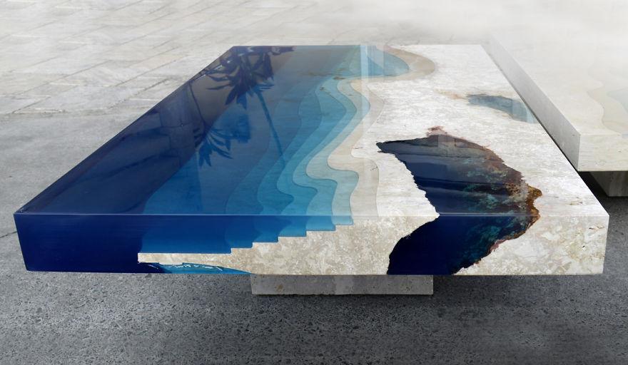 Astonishing Ocean Themed Tables By Alexandre Chapelin 5