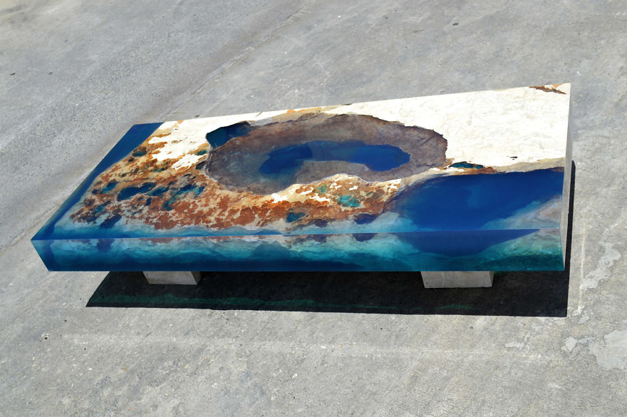 Astonishing Ocean Themed Tables By Alexandre Chapelin 8