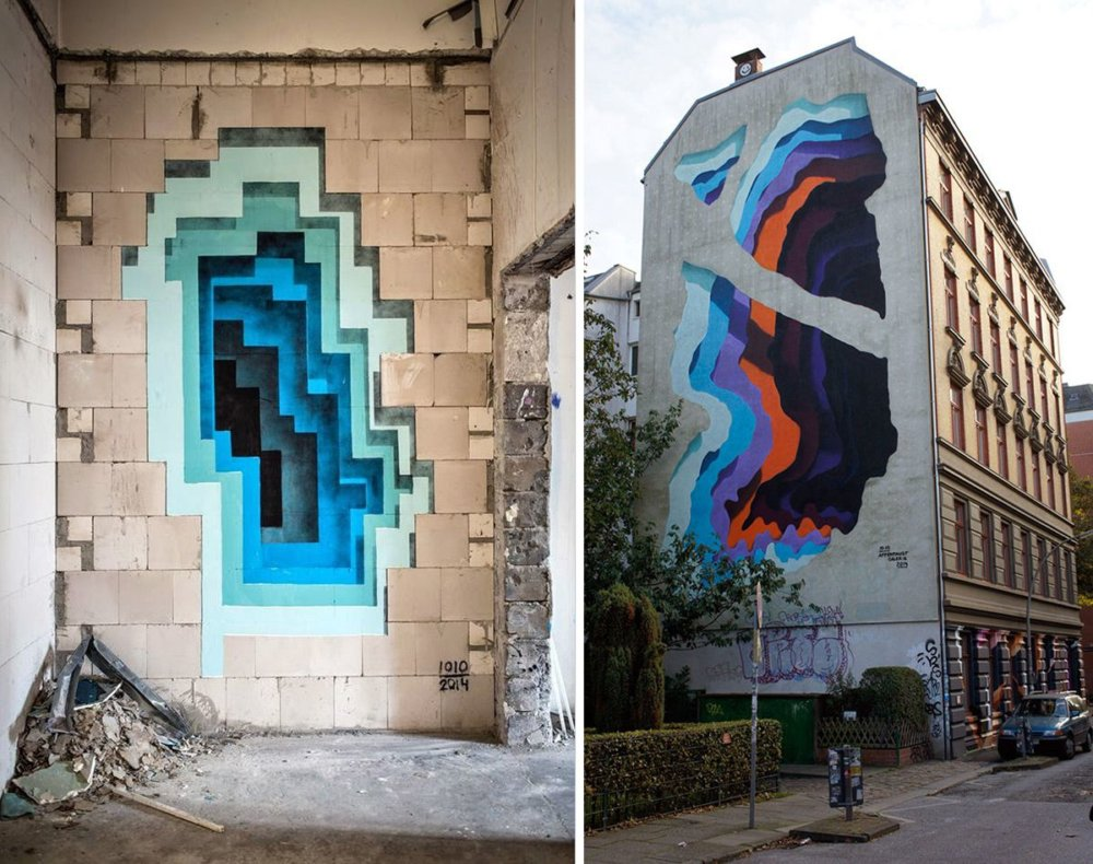 Colorful Gateways Impressive Three Dimensional Murals By 1010 9