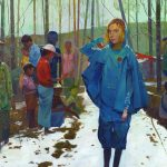 Colorful illustrative paintings by Andrew Hem