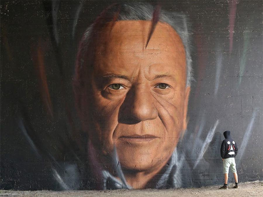 Large Scale Hyper Realistic Portrait Murals By Jorit Agoch 10