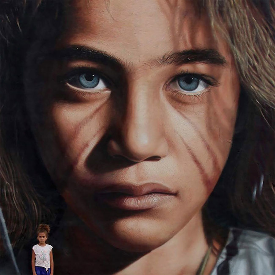 Large Scale Hyper Realistic Portrait Murals By Jorit Agoch 2
