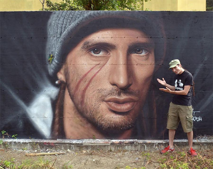 Large Scale Hyper Realistic Portrait Murals By Jorit Agoch 6