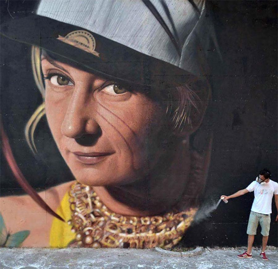 Large Scale Hyper Realistic Portrait Murals By Jorit Agoch 7