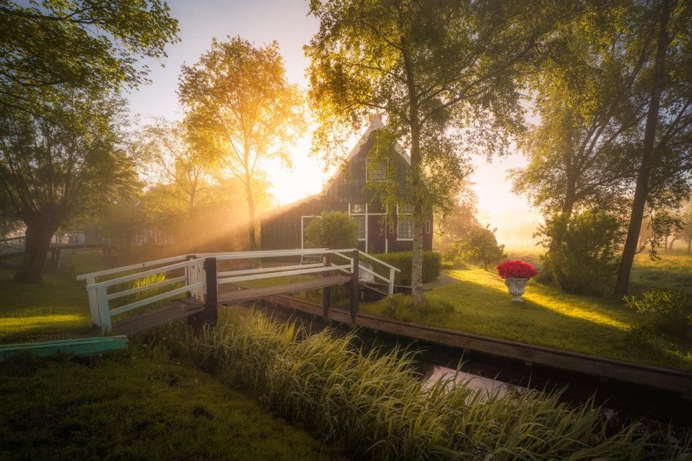 Magic Windmills Enchanting Dutch Landscapes In The Fog By Albert Dros 7