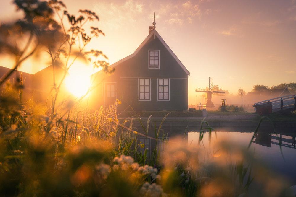 Magic Windmills Enchanting Dutch Landscapes In The Fog By Albert Dros 8