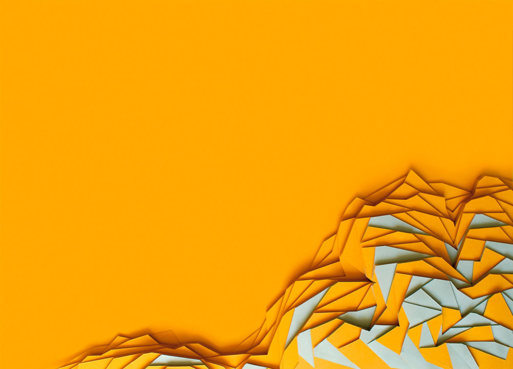 Multicolored 3D paper patterns by Maud Vantours (10)