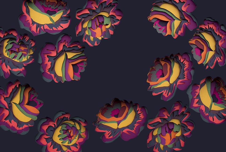 Multicolored 3d Paper Patterns By Maud Vantours 2