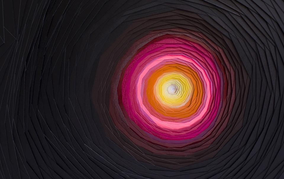 Multicolored 3d Paper Patterns By Maud Vantours 7