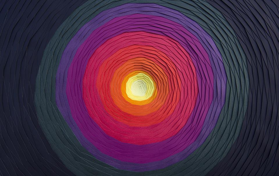 Multicolored 3d Paper Patterns By Maud Vantours 8