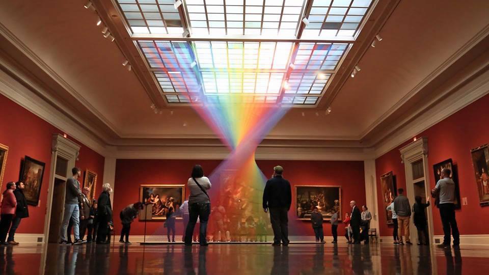 Rainbow Themed Thread Installations By Gabriel Dawe 1