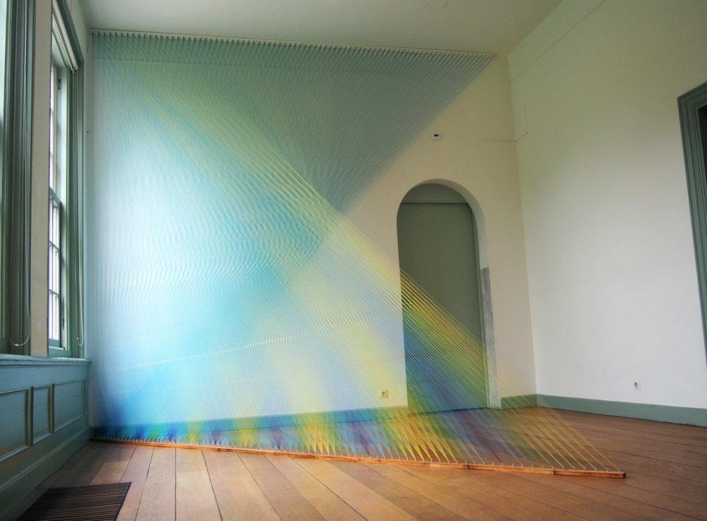 Rainbow Themed Thread Installations By Gabriel Dawe 9