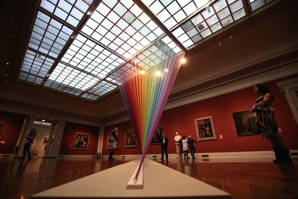 Rainbow Themed Thread Installations By Gabriel Dawe 2