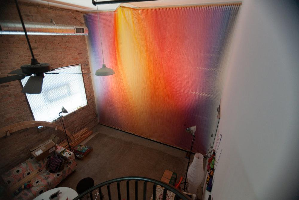 Rainbow Themed Thread Installations By Gabriel Dawe 3