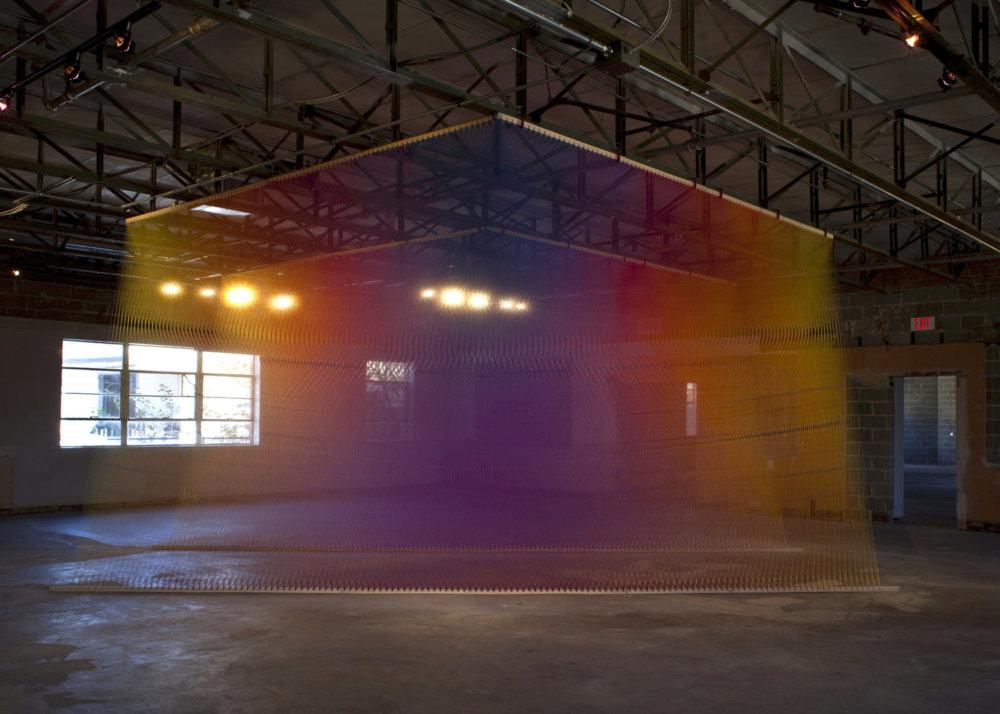 Rainbow Themed Thread Installations By Gabriel Dawe 4